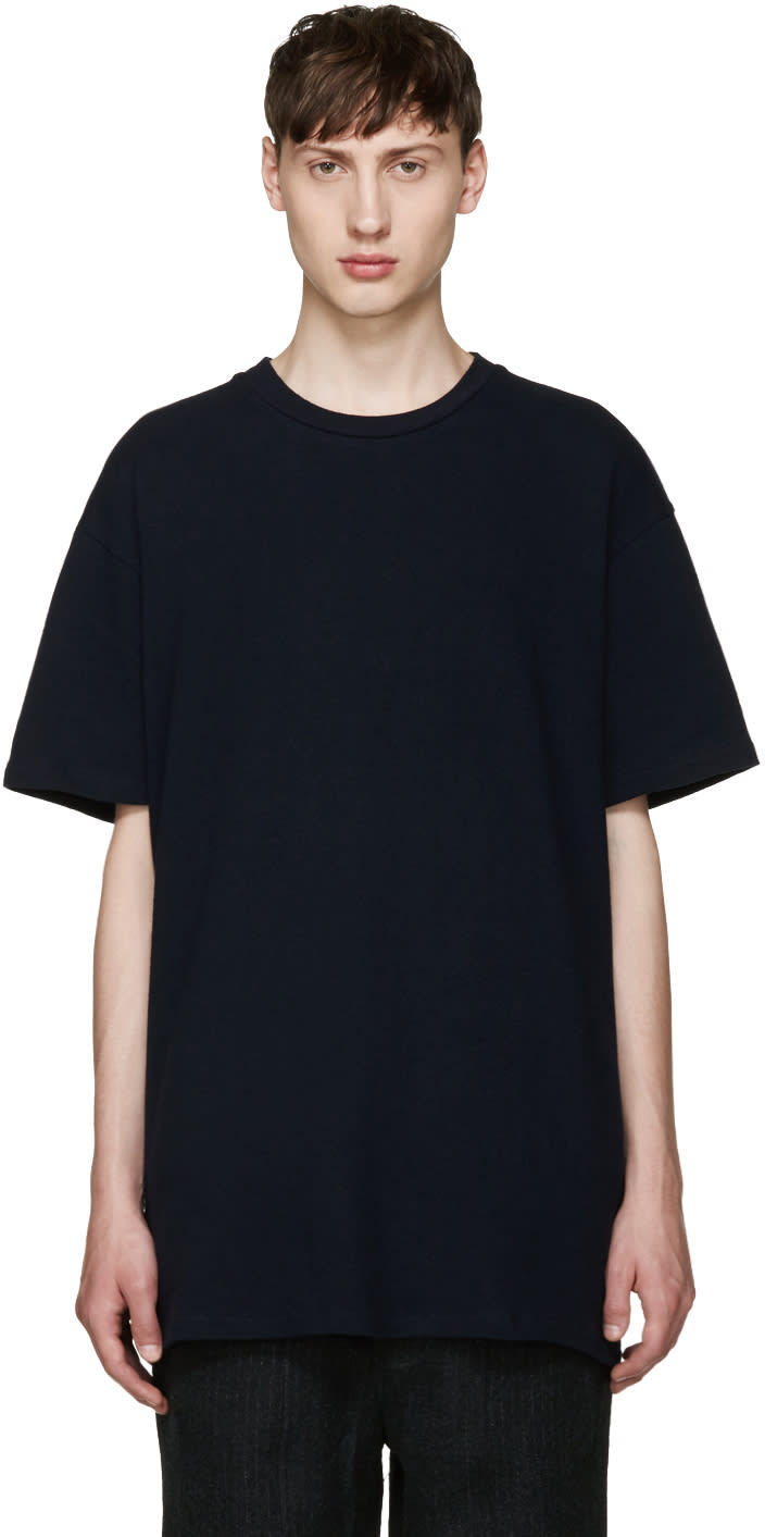 Song For The Mute Navy Oversized T-shirt