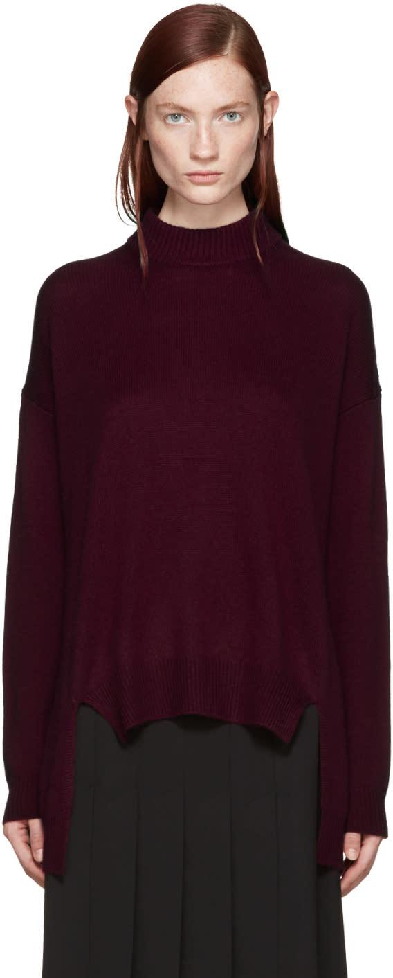 Rosetta Getty Red Cropped Sweater