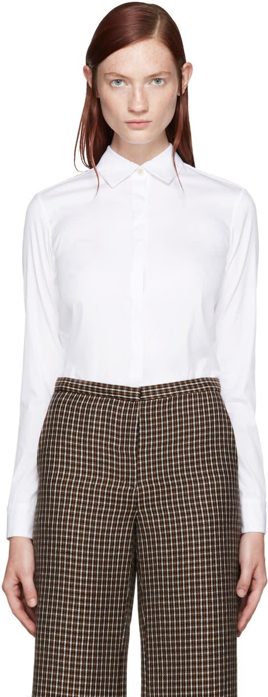 Rosetta Getty White Cropped Shirt