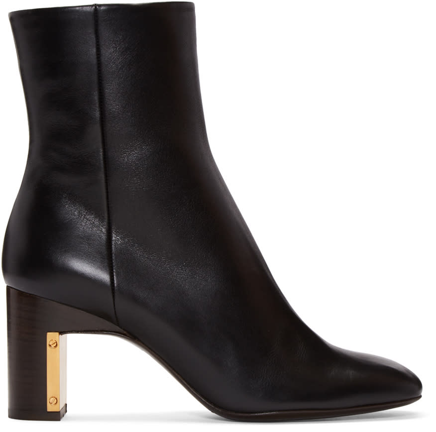Rosetta Getty Black Leather Ankle Boots