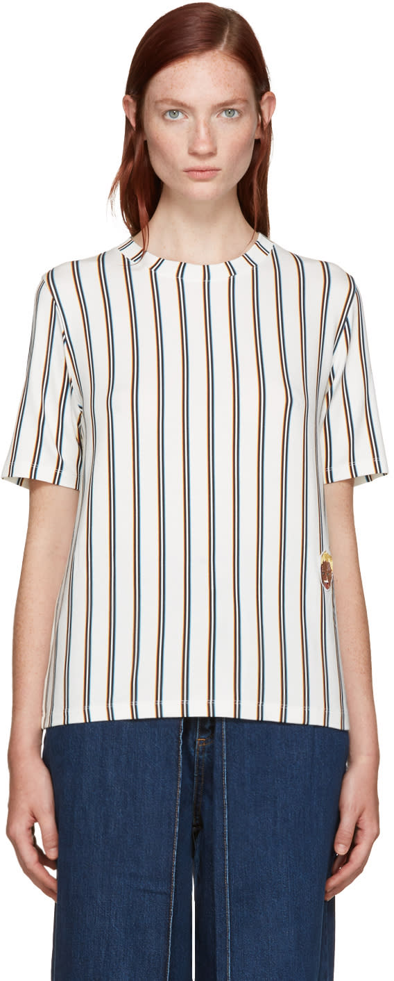 Image of Aalto White Striped T-shirt