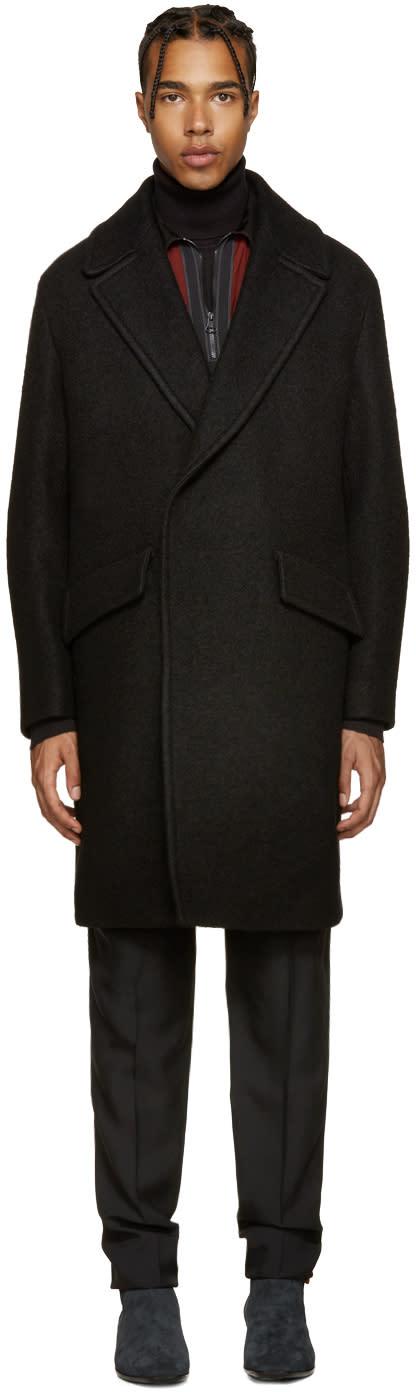 Wooyoungmi Black Wide Lapel Coat