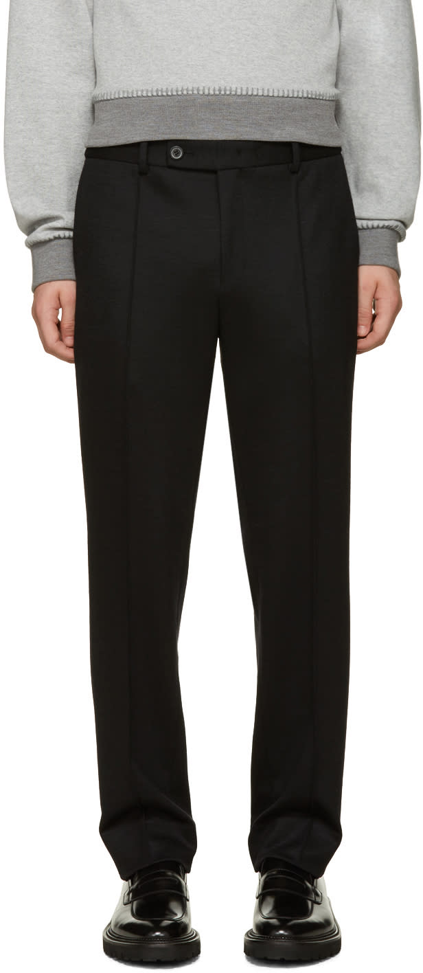 Wooyoungmi Navy Wool Jersey Trousers