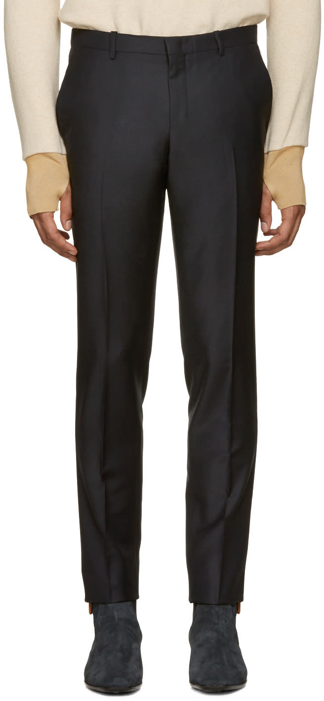 Wooyoungmi Navy Classic Trousers