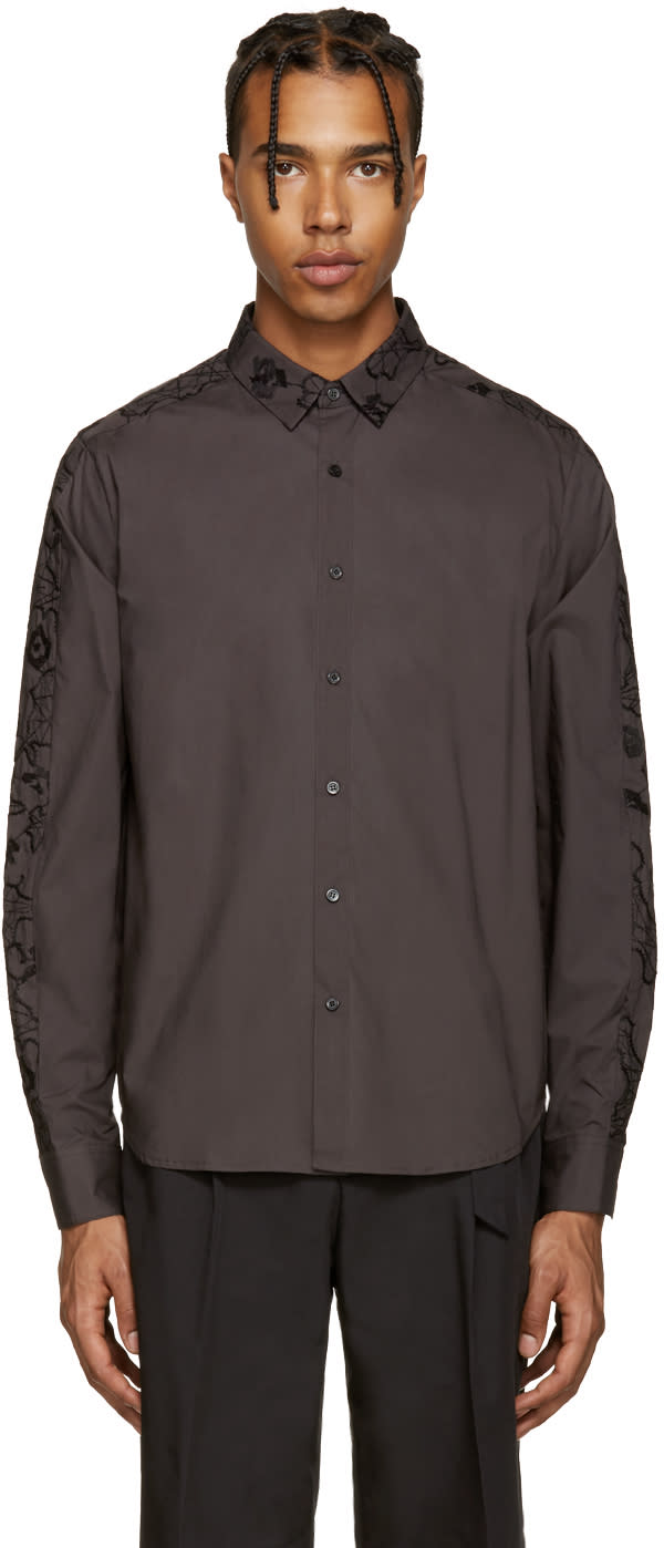 Wooyoungmi Grey Embroidered Shirt
