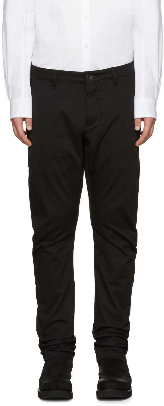 Image of Attachment Black Cotton Trousers