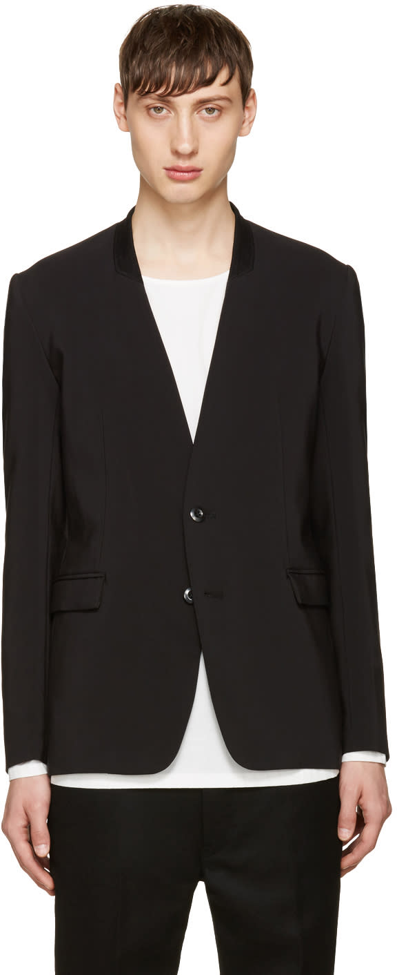 Image of Attachment Black No Lapel Blazer