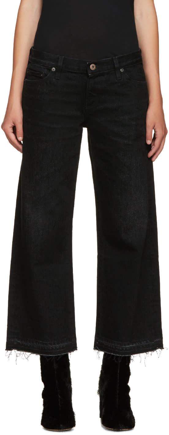 Simon Miller Black Wide-leg Bora Jeans