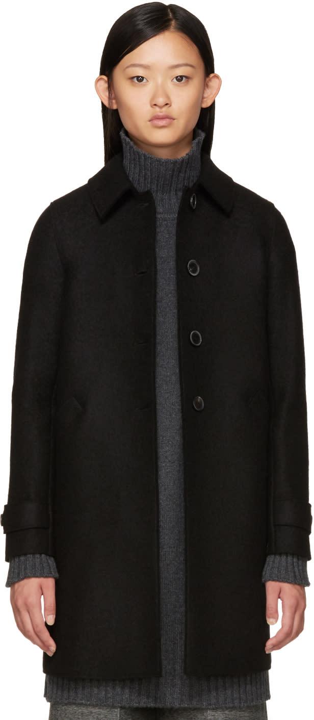 Harris Wharf London Black Wool Coat
