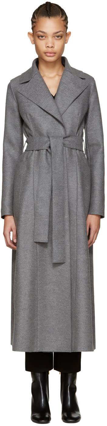 Harris Wharf London Grey Wool Long Duster Coat