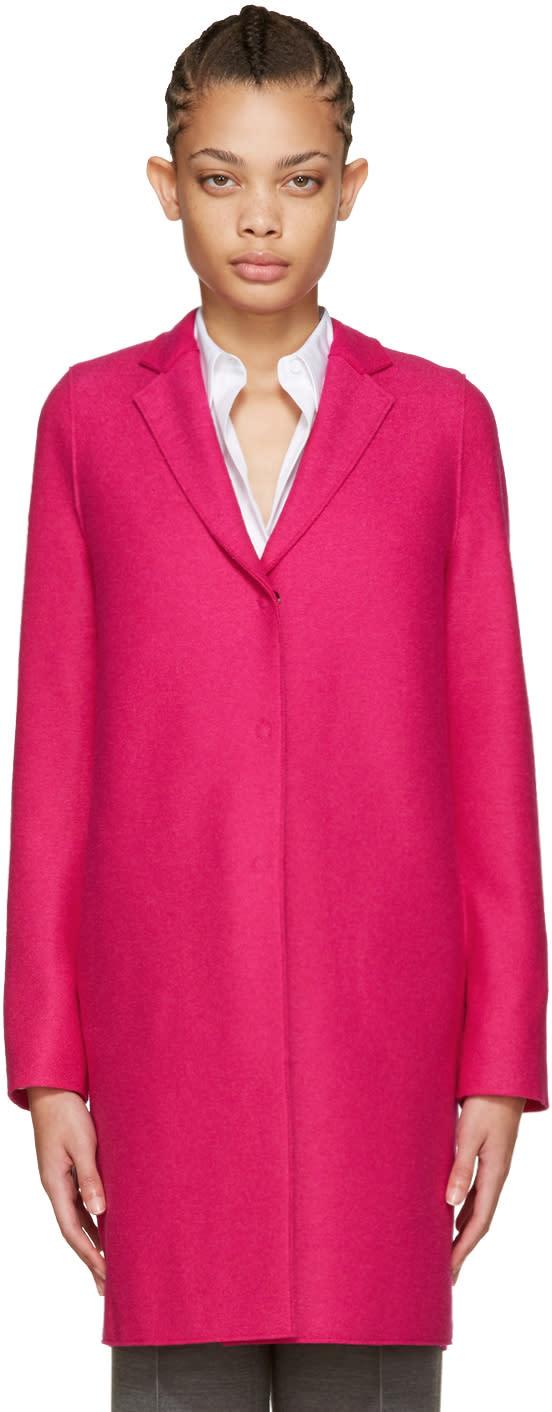 Harris Wharf London Pink Wool Cocoon Coat