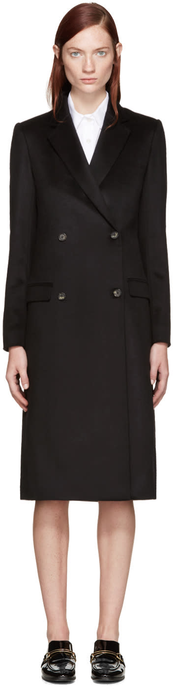 Brock Collection Black Cashmere Caroline Coat
