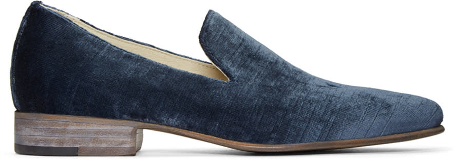 Image of Brock Collection Blue Velvet 1994 Loafers