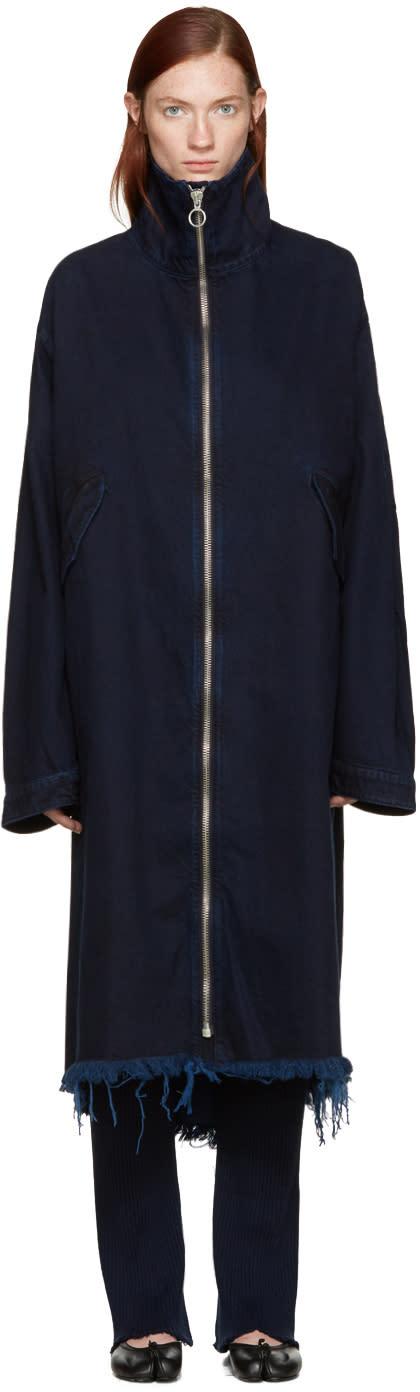 Marques Almeida Indigo Denim Long Jacket