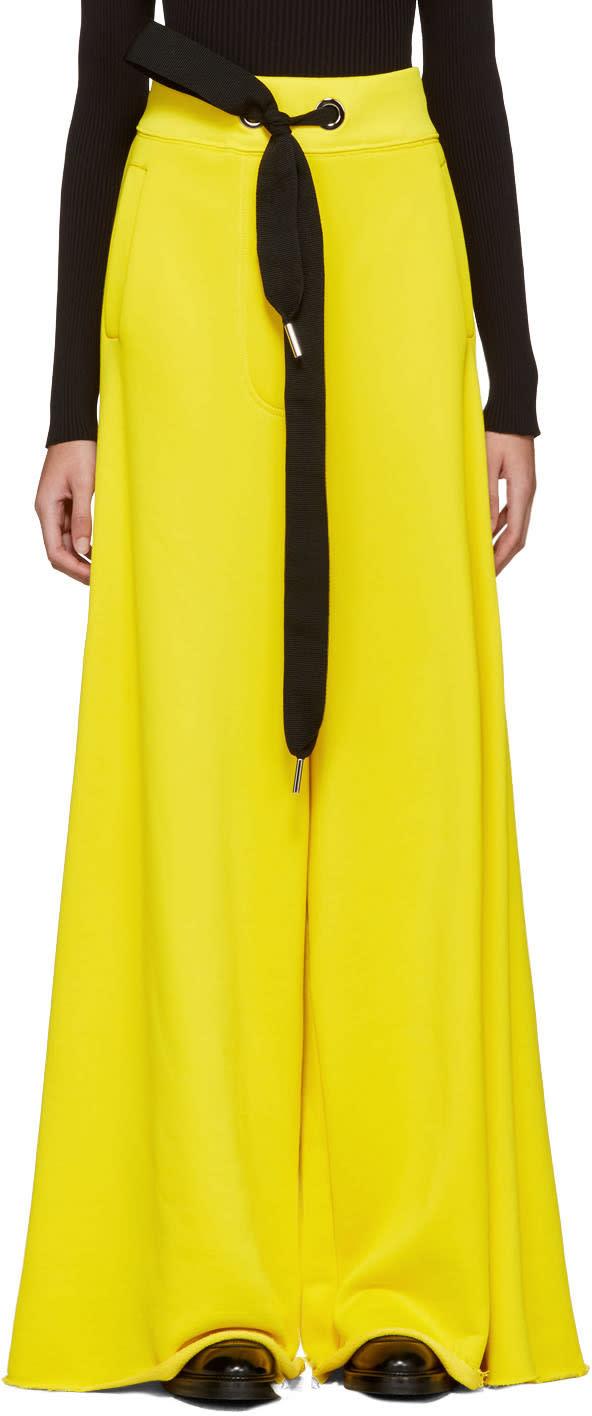 Marques Almeida Yellow Wide-leg Lounge Pants