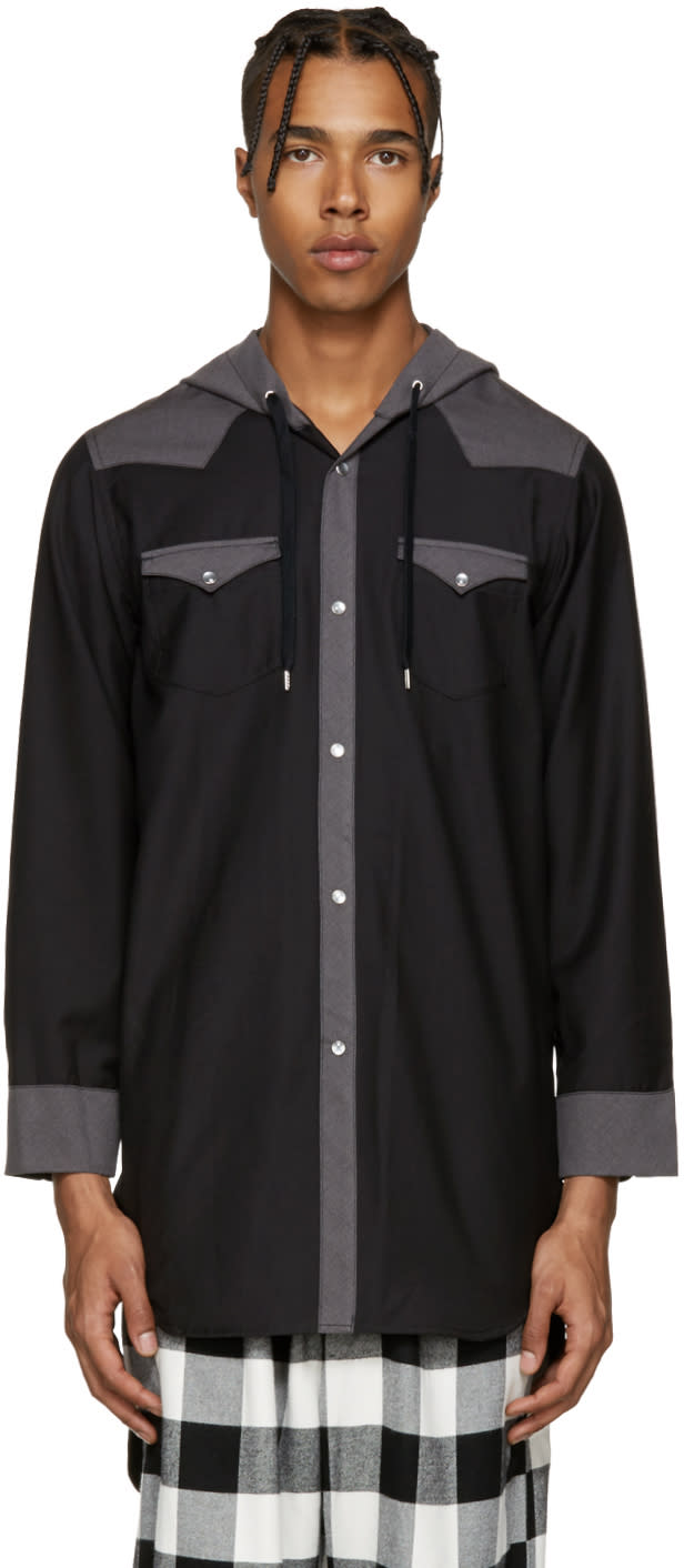 Image of Kidill Black Hooded Western Shirt