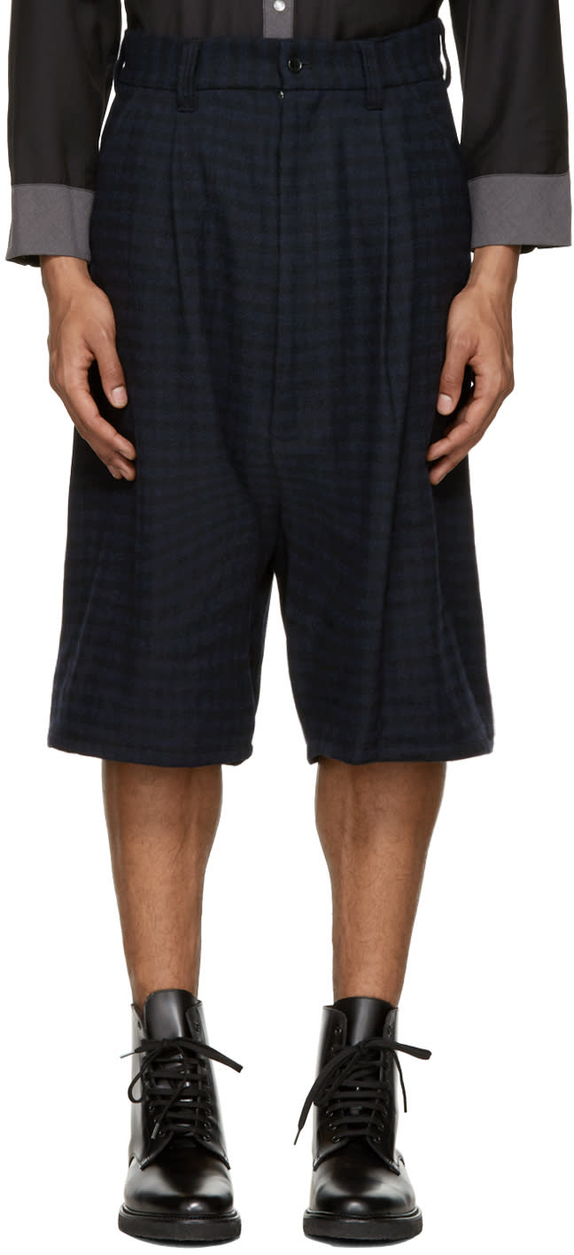 Kidill Blue Check Tuck Shorts