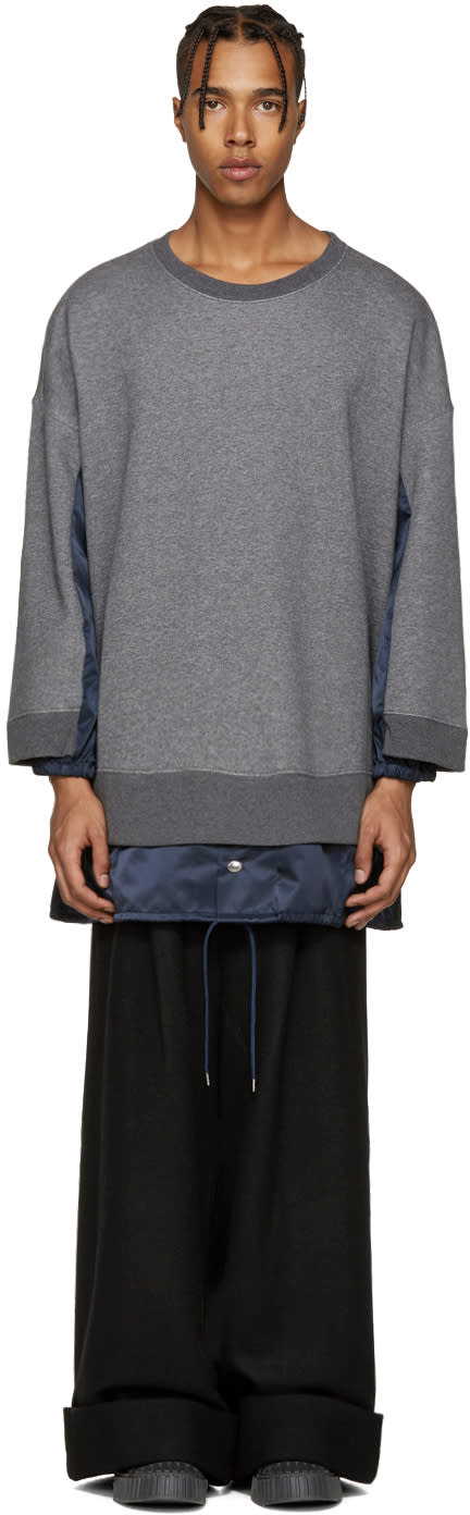 Kidill Grey Panelled Combo Pullover