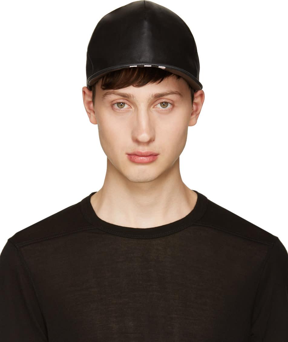 Nilos Black Lambskin Cap