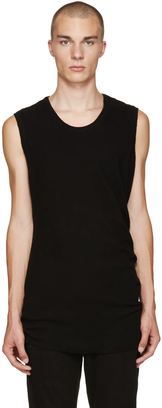 Nilos Black Sleeveless T-shirt