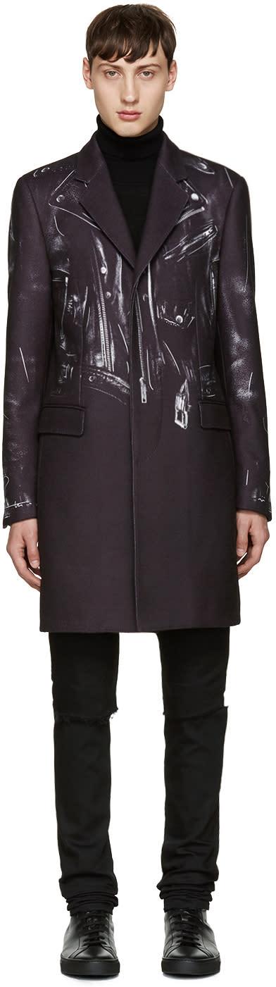 Moschino Black Trompe Loeil Coat