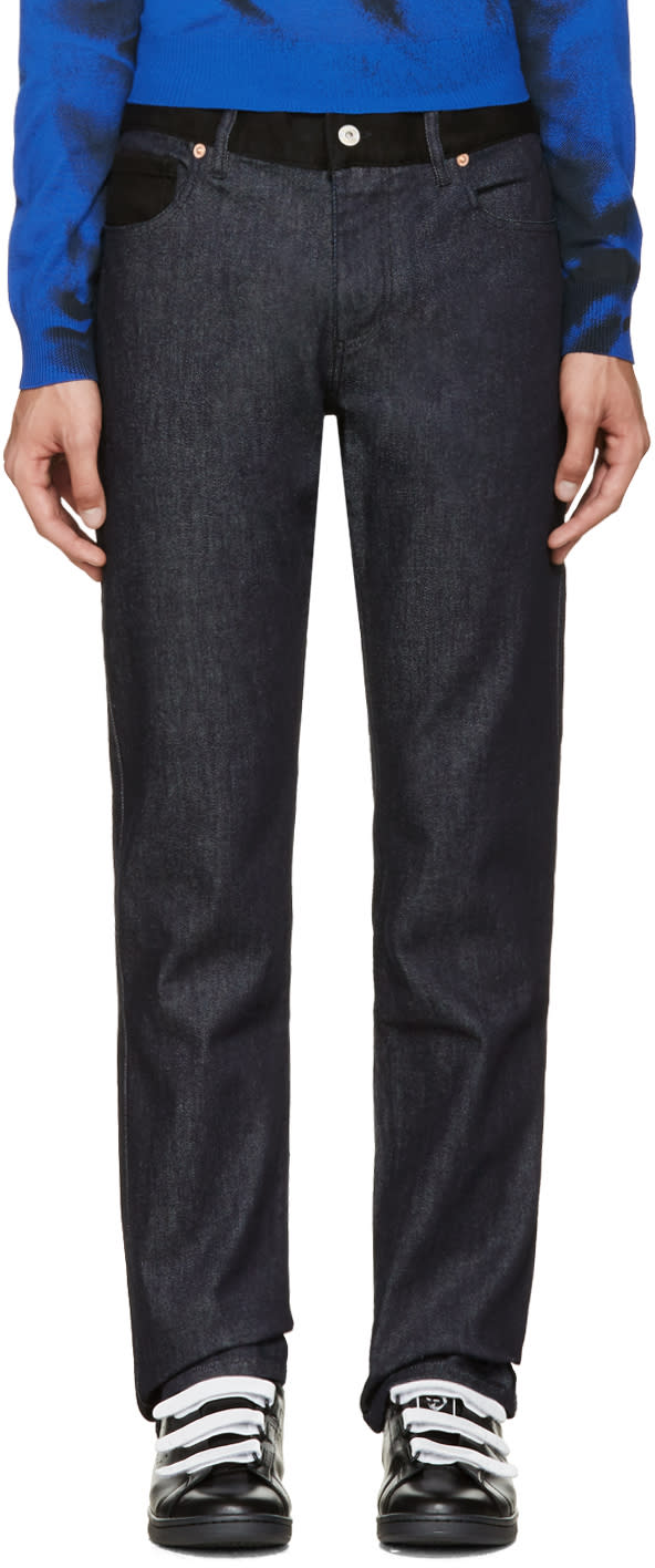 Image of Moschino Blue and Black Combo Jeans