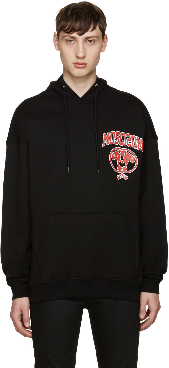 Moschino Black Reverse Logo Hoodie