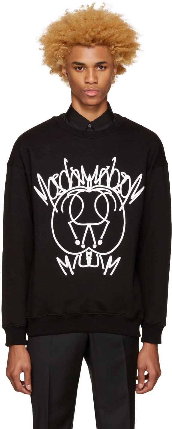 Moschino Black Graffiti Logo Pullover