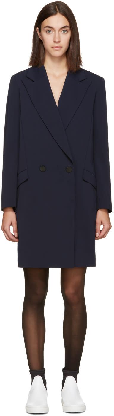 Atea Oceanie Navy Crepe Blazer Dress