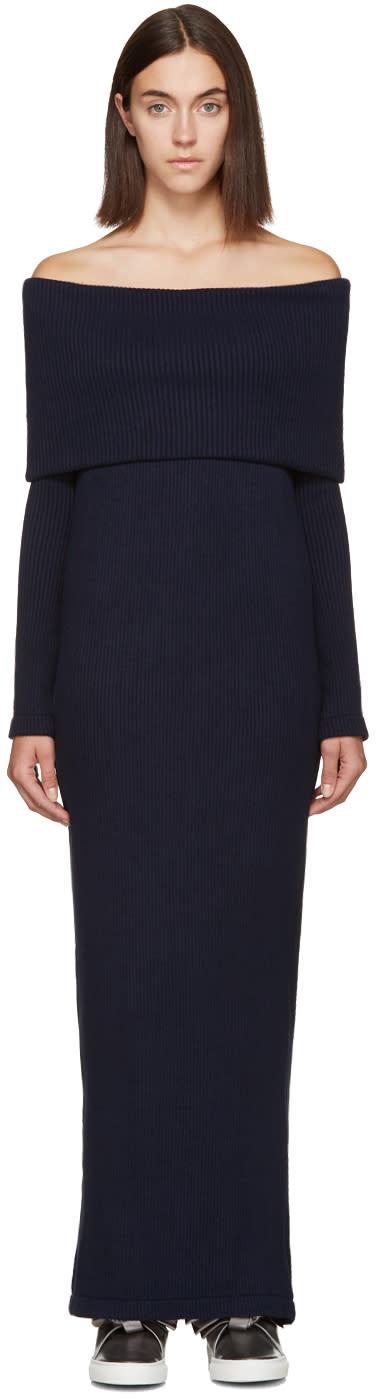 Atea Oceanie Navy Foldover Dress