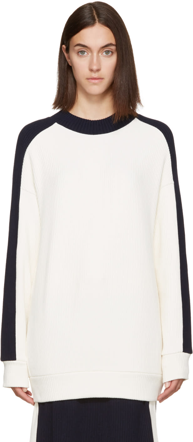 Atea Oceanie Ivory Ribbed Pullover