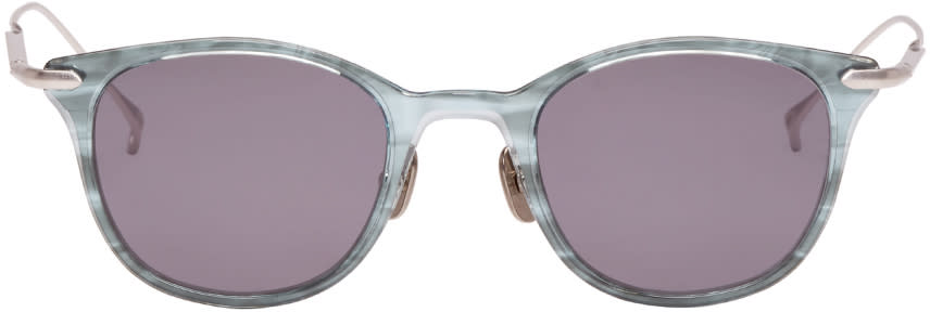 Issey Miyake Men Blue Wellington Ii Sunglasses