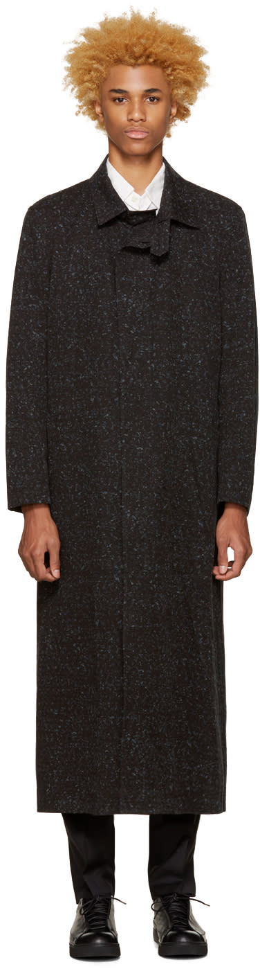 Issey Miyake Men Grey Printed Coat