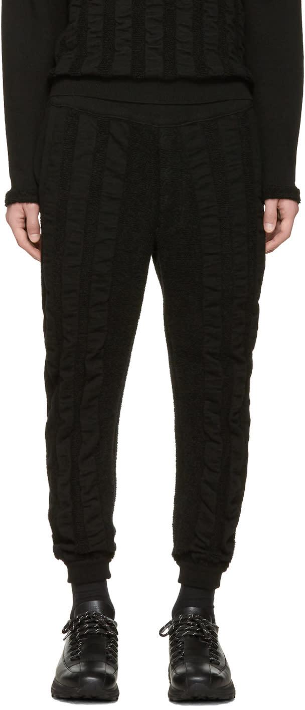 Issey Miyake Men Black Wave Pile Lounge Pants