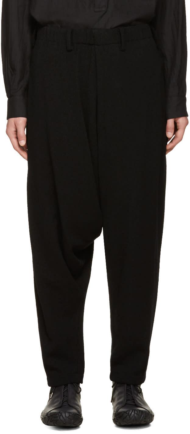 Issey Miyake Men Black Boucle Sarouel Trousers