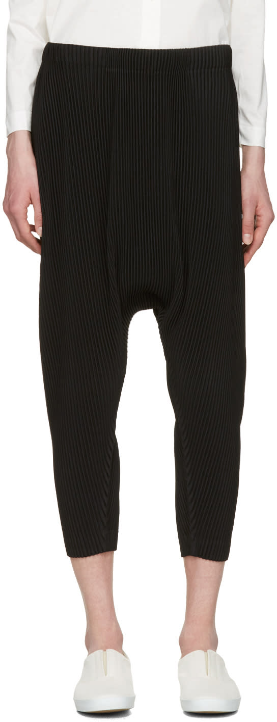 Homme Plissé Issey Miyake Black Pleated Sarouel Trousers
