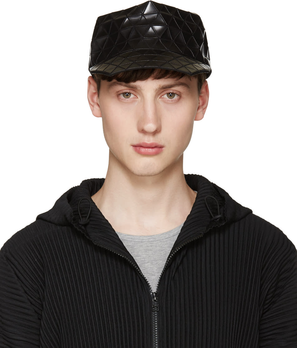 Bao Bao Issey Miyake Black Geometric Cap