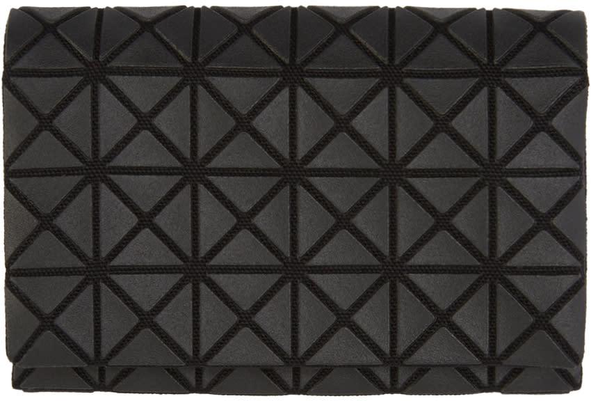 Image of Bao Bao Issey Miyake Black Geometric Card Holder
