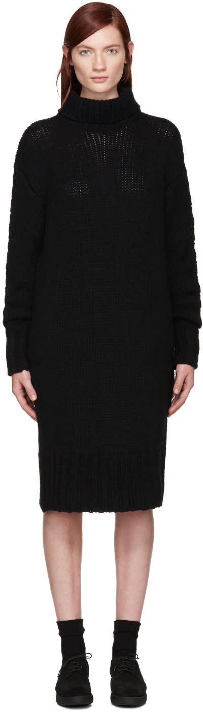 Ys Black Turtleneck Dress