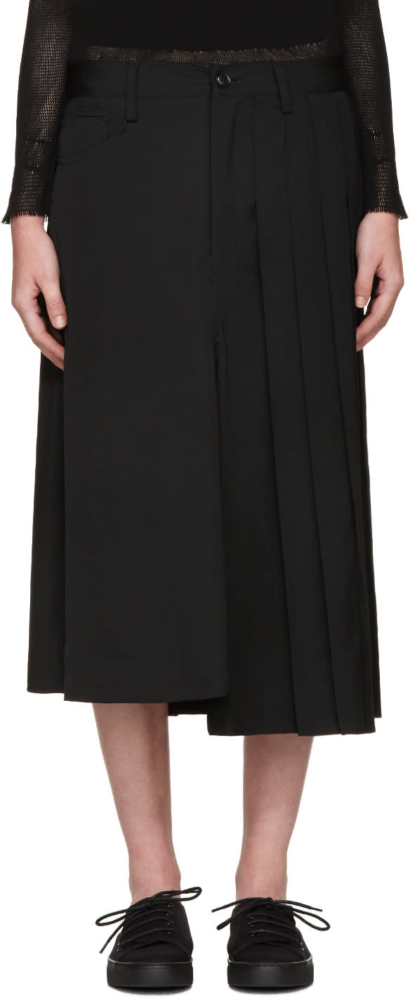 Ys Black Hybrid Skirt