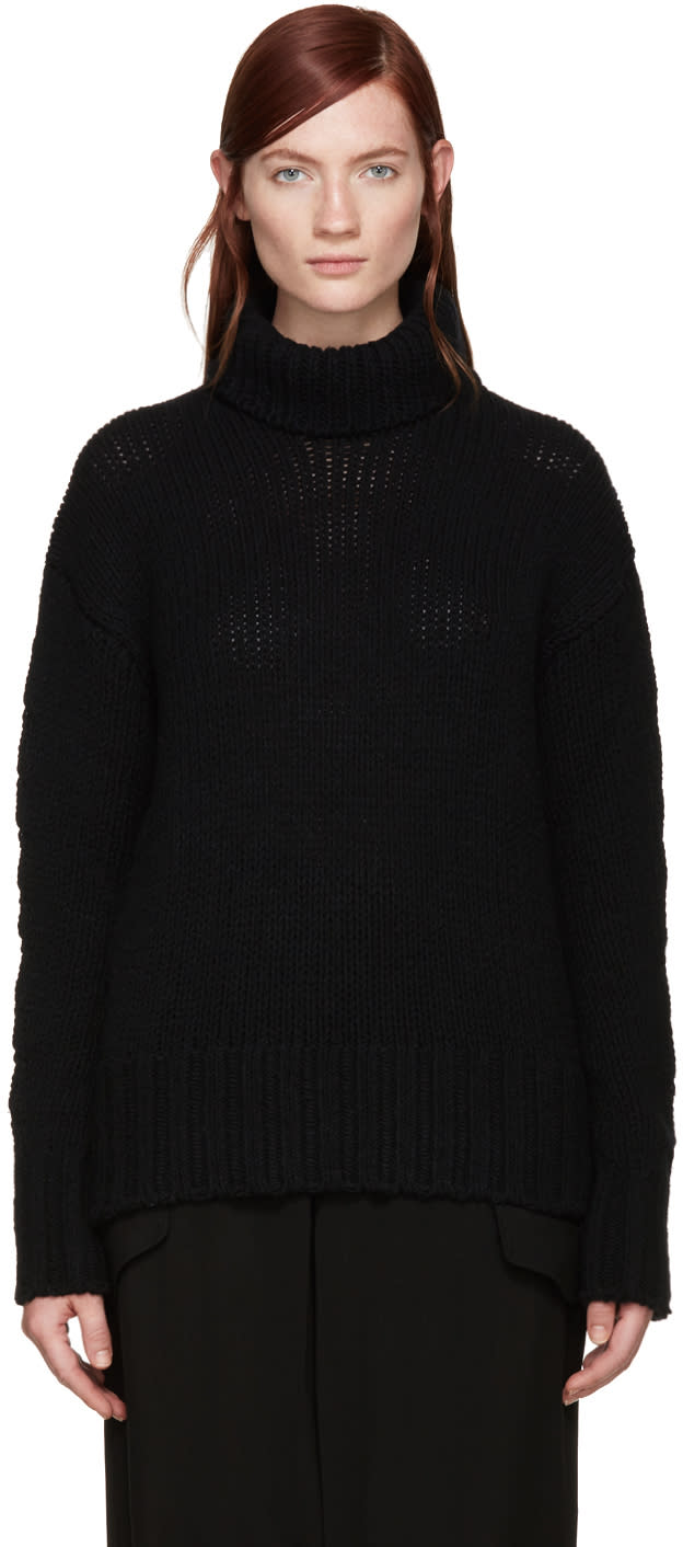 Ys Black Turtleneck Sweater