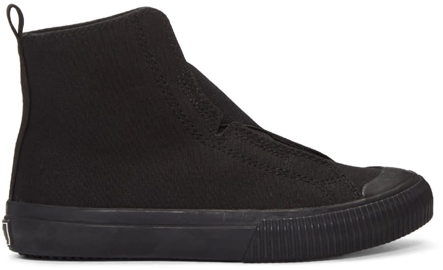Ys Black Cross Gore High-top Sneakers