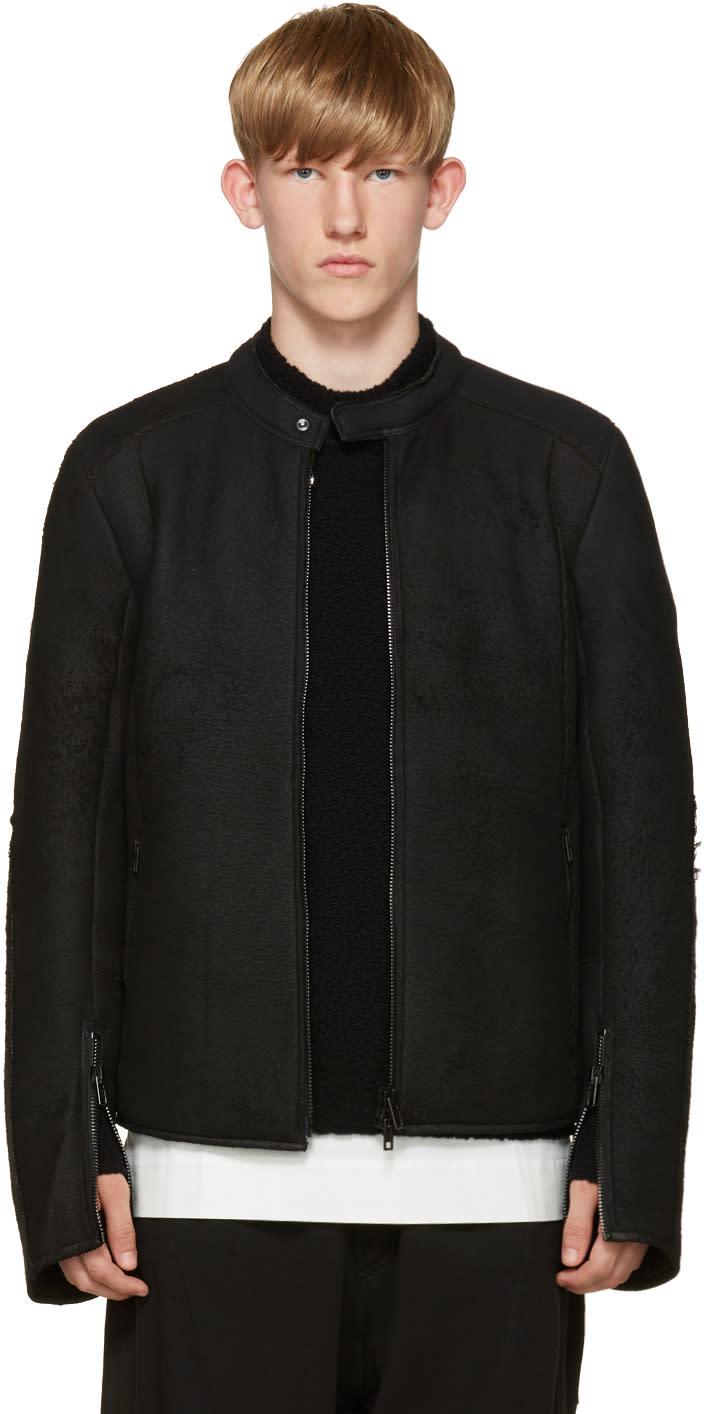 Isabel Benenato Black Shearling Jacket