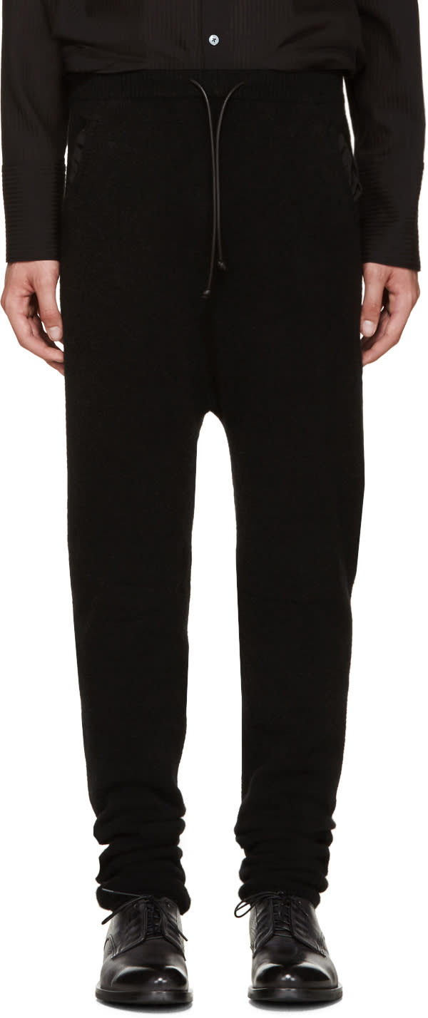 Isabel Benenato Black Knit Lounge Pants