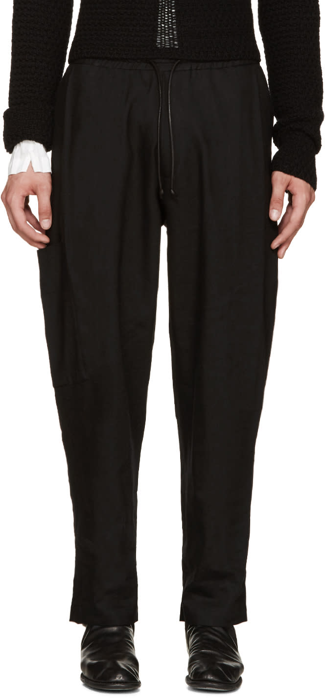 Image of Isabel Benenato Black Coulisse Trousers