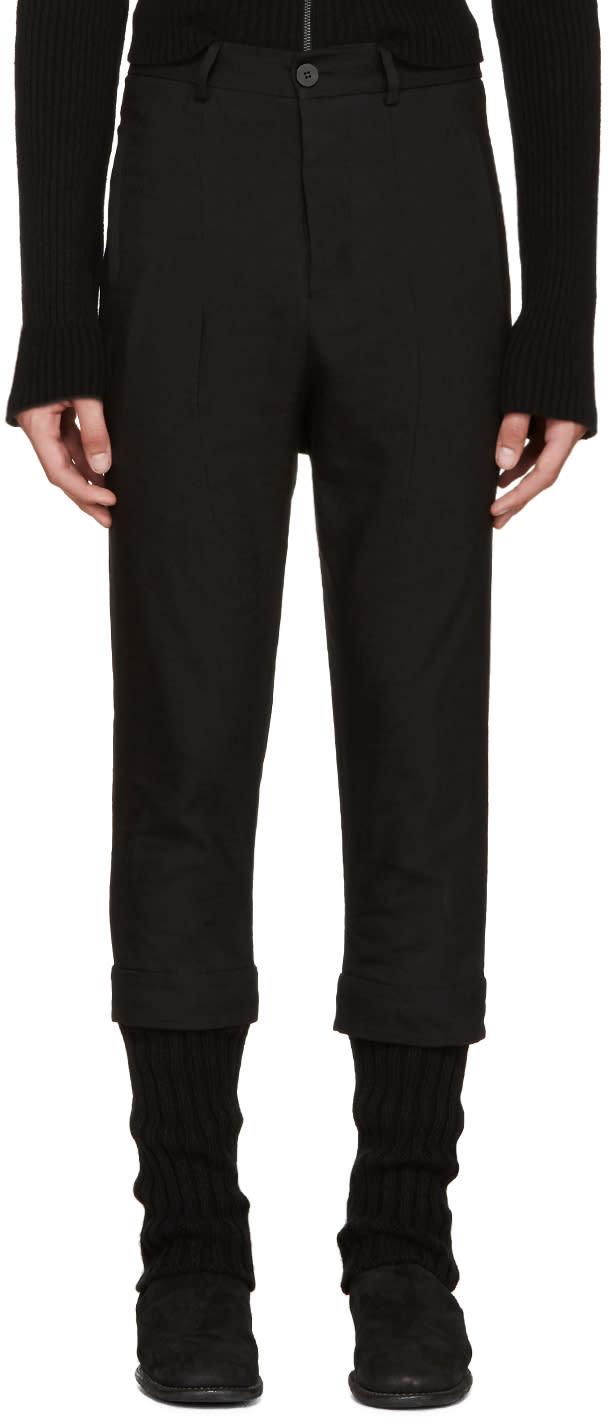Isabel Benenato Black Layered Trousers