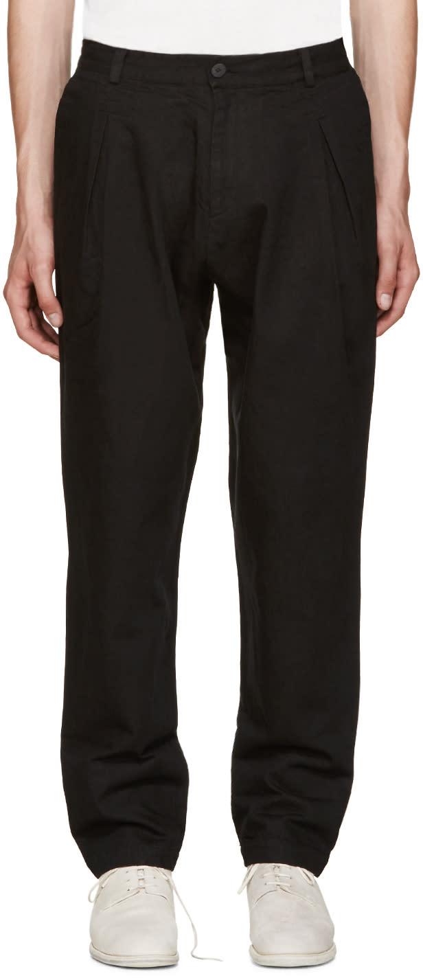 Isabel Benenato Black Pleated Trousers