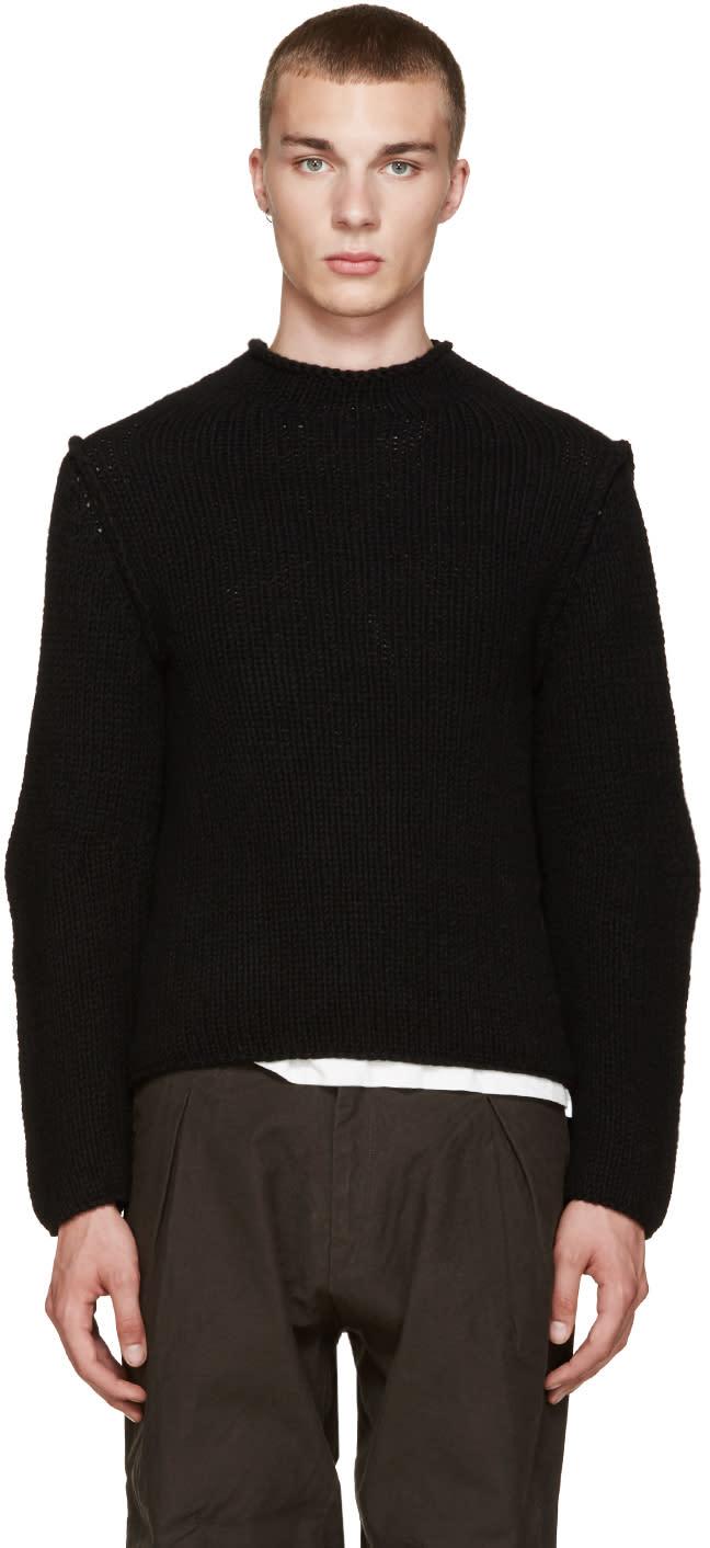 Isabel Benenato Black Heavy Knit Sweater