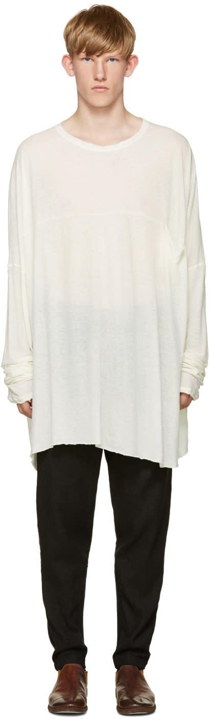 Isabel Benenato Ivory Oversized T-shirt