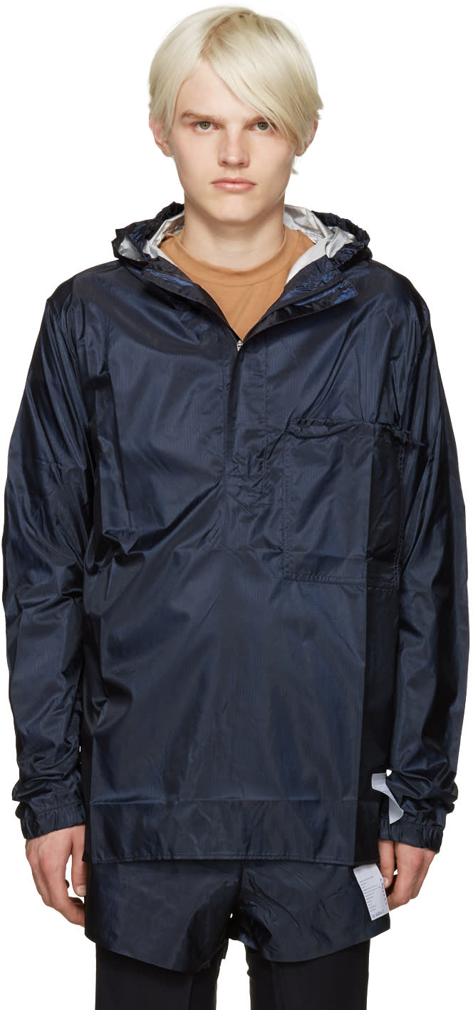 Satisfy Navy Packable Windbreaker